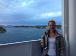 Weltcup Hafjell- auf der Fähre im Oslo-Fjord
